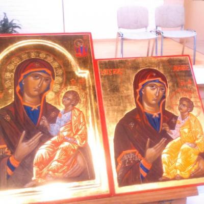 Vierge  qui  montre le  chemin  (  Hogiditria)