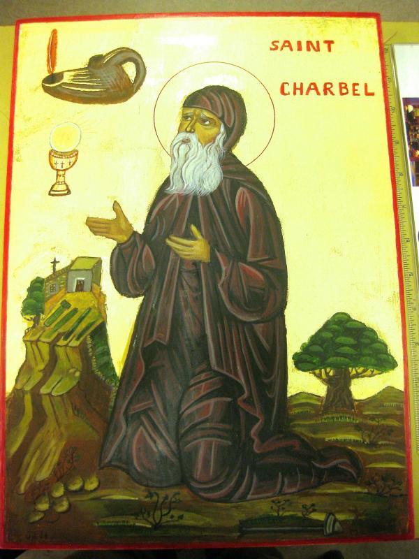 Icone de st Charbel  pour le Monastere St Charbel -